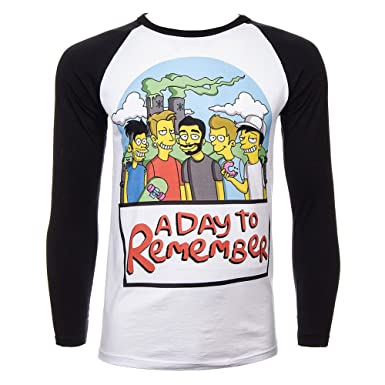 7379becec5b5c Amazon.com: A Day To Remember Men's Simpsons T Shirt - Small, Multi ...