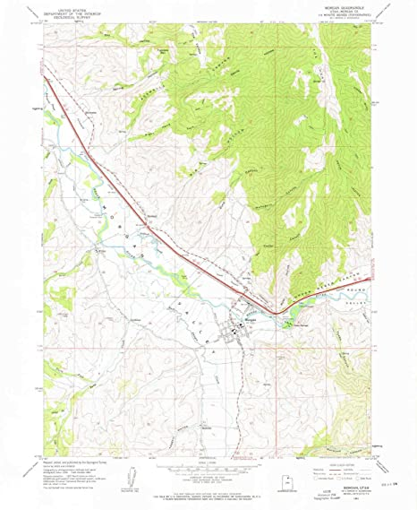 Amazon com : YellowMaps Morgan UT topo map, 1:24000 Scale