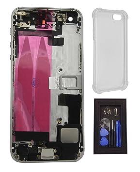 iRenovo® Carcasa Trasera Chasis para iPhone 5S Blanco y ...