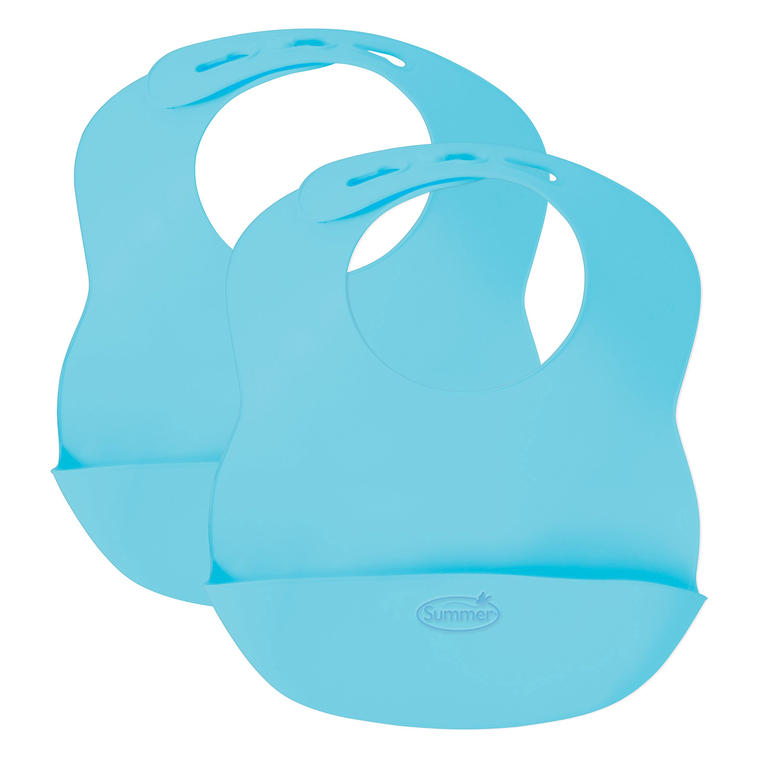 Kiddopotamus Bibbity Rinse & Roll Bib in Blue, 2 Count