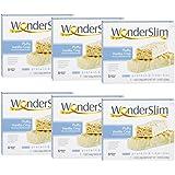 WonderSlim Low-Carb Protein & Fiber Bar - Fluffy Vanilla Crisp 6 Box Value-Pack (Save 10%) - Low Carb, High Protein, High Fiber, Low Sugar, Gluten Free