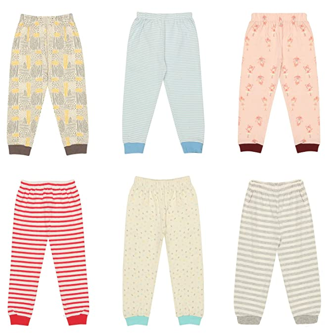 b984ceaf9 Kyda Kids Cotton Baby Pajama Pants Unisex with Rib (Pack of 6 ...
