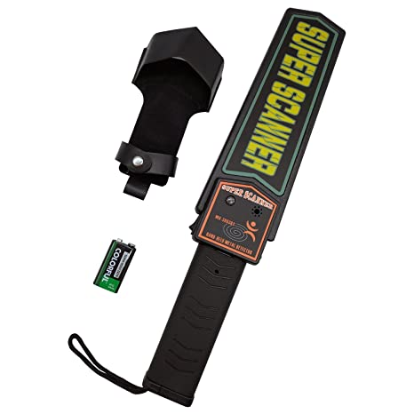KAMURES Handheld Metal Detector Security Scanner Wand with 9V Battery and Belt Holster, Adjustable Sensitivity