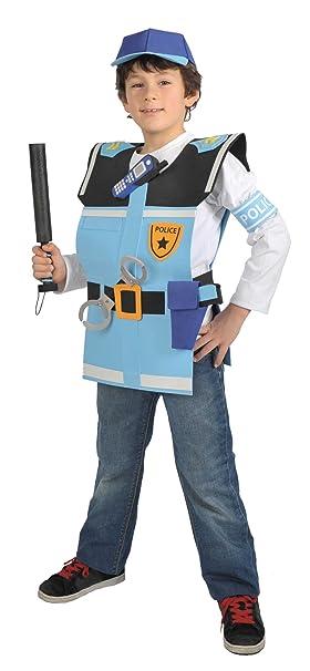 CARITAN - Disfraz de policía para niño (de 3/5 años): Amazon.es ...