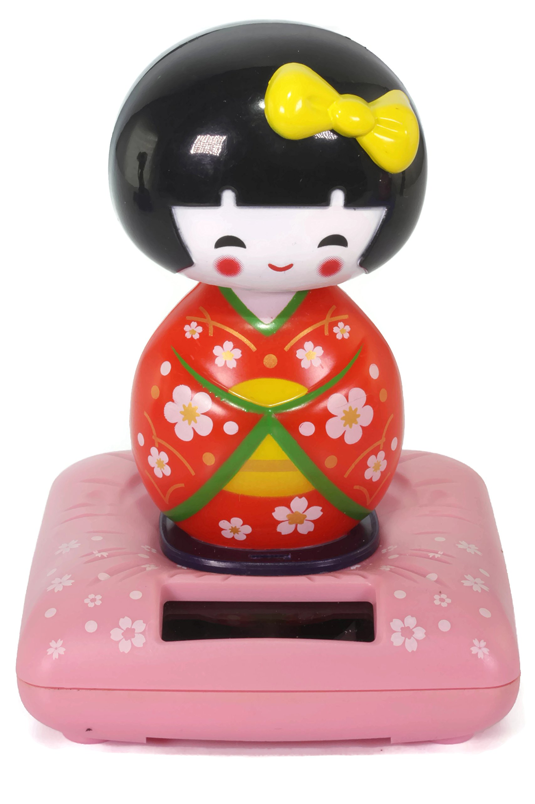 Red Solar Kokeshi Doll Wobbler