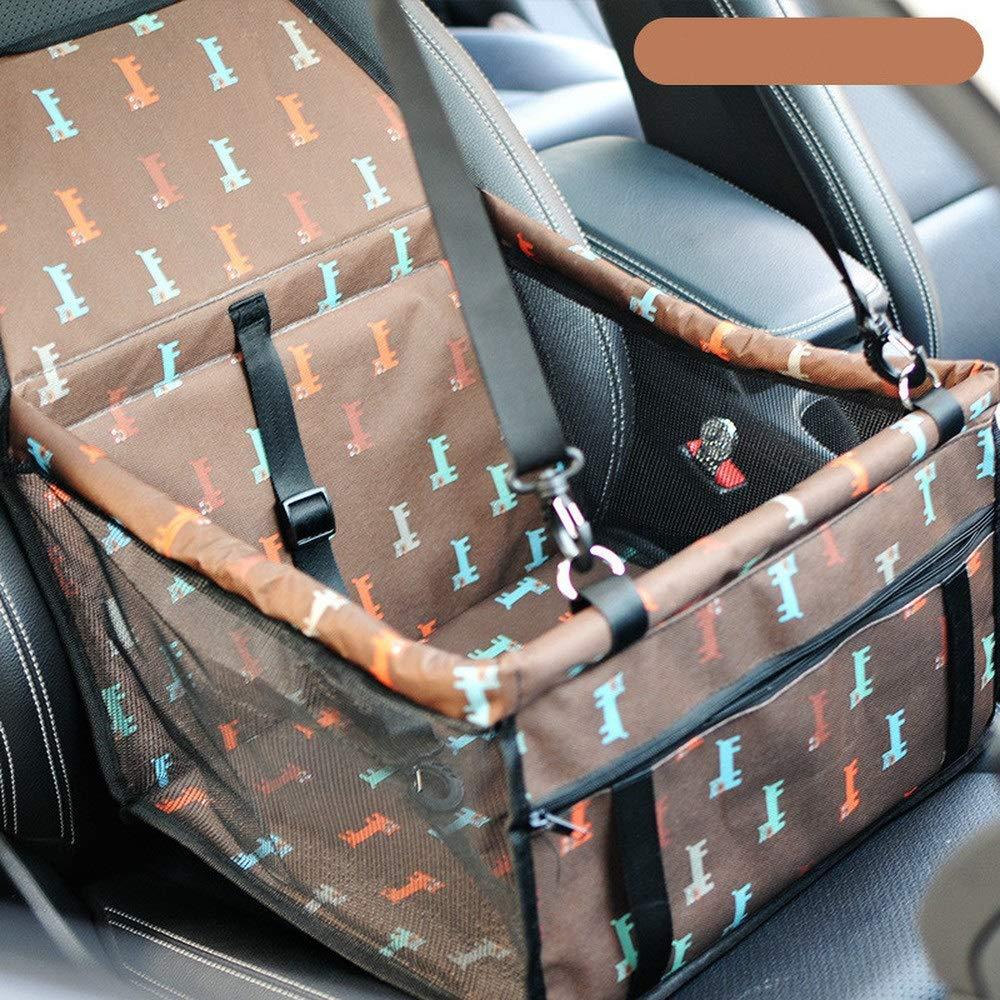 Coffee 1 PCS Pet mesh Gauze Thickening Oxford Cloth Dog cat car Bag Waterproof Anti-Dirty Anti-Catch Bag AP10121829PY (color   Coffee)
