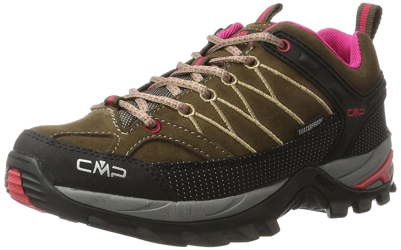 Marron (Wood-magenta) CMP Rigel Low WP, Chaussures de Randonnée Basses Femme 37 EU