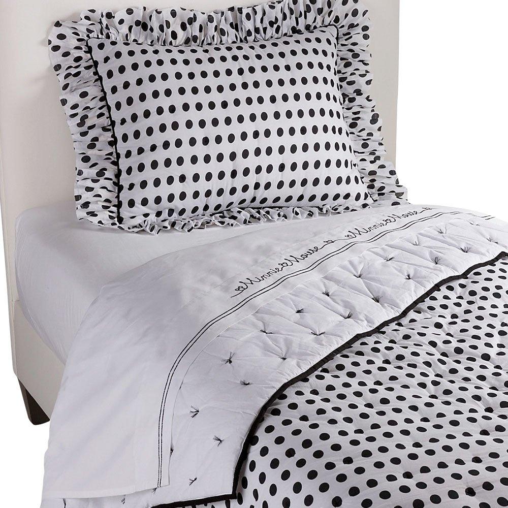 Ethan Allen | Disney  Midi Dotty Comforter, Mickey's Ears (Black), Full/Queen