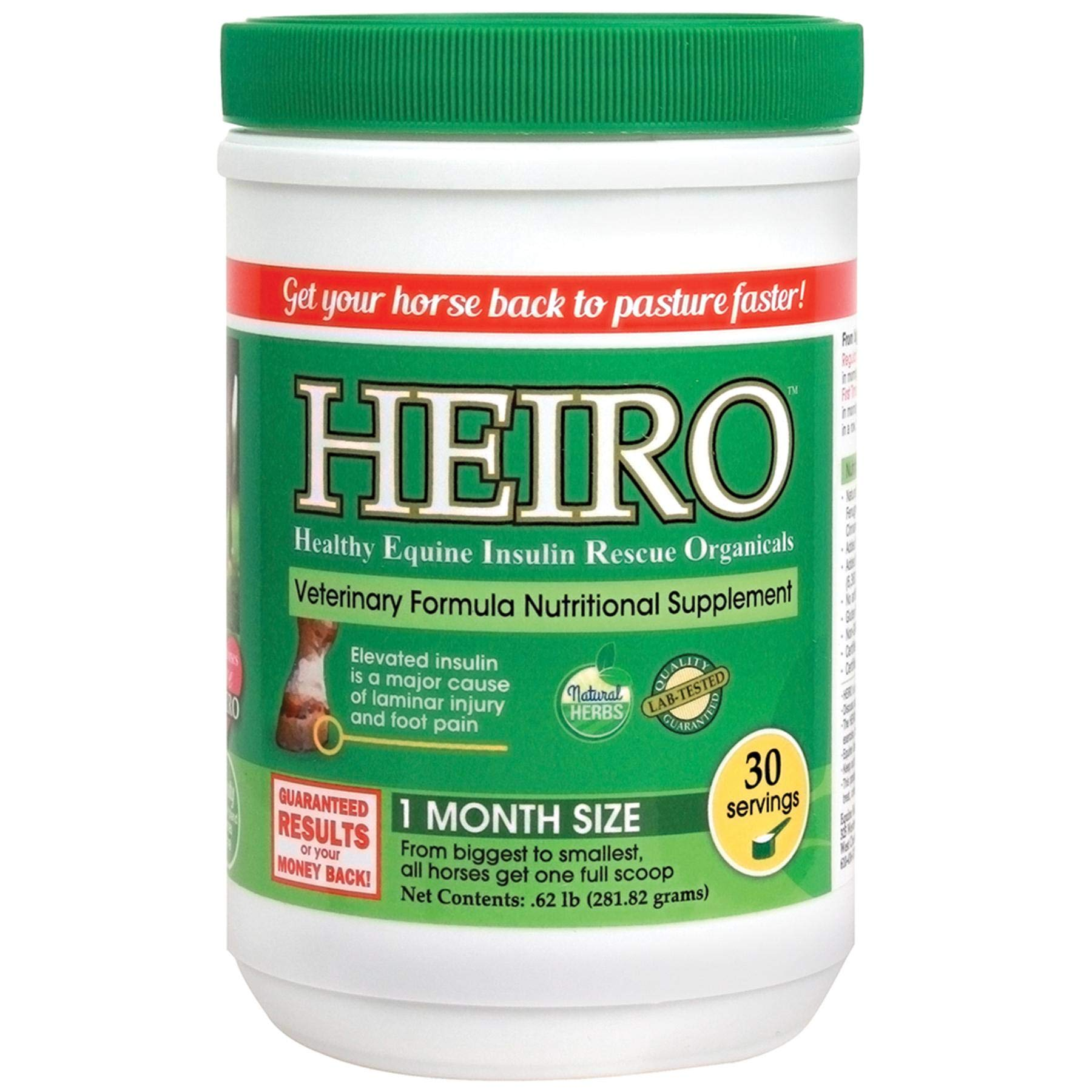 Heiro Equine Horse Pony 30 Day Supply Insulin Hoof Laminitus Natural Supplement