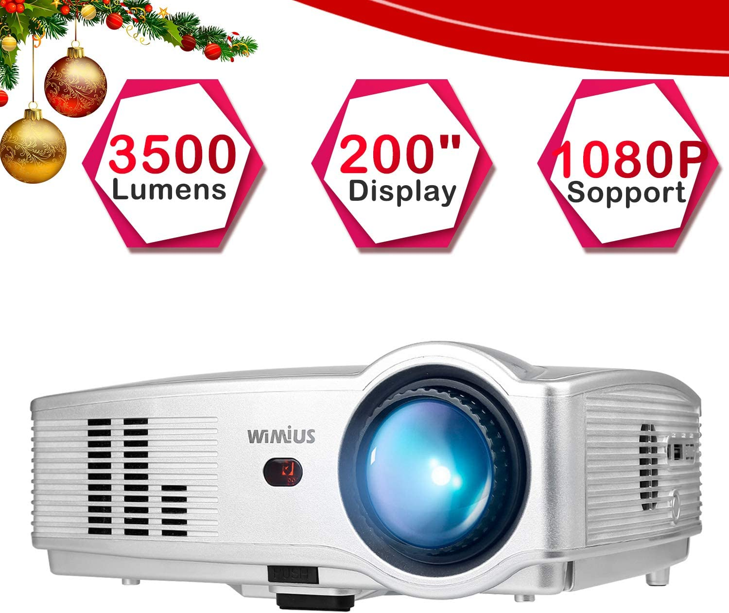 Proyectores, Proyector Full HD 3500 Lúmenes Support 1080P (T4 ...
