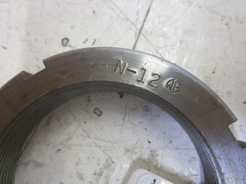 Whittet-Higgins BHM-12 High Strength Bearhug Threaded Shaft /& Bearing Locknut Self-Locking Standard N11 SNH-12, Replaces SKF N 11 SN-11 UNS 2.360-18 Right-Hand Thread