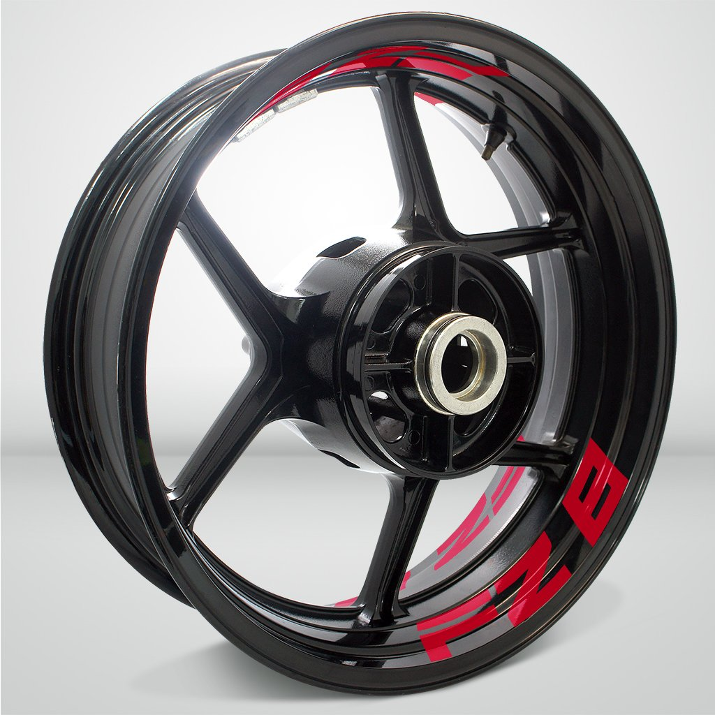 Reflective Red Motorcycle Inner Rim Tape Sticker Decal for Yamaha FZ8 by Stickman Vinyls (Image #3)