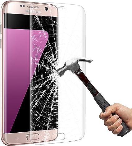 Galaxy S7 Edge Protector de Pantalla, Vitutech HD Vidrio Templado Protector de Galaxy 7 Edge [Libre de Burbujas] [Anti-Huellas Dactilares] Protector de Pantalla para Samsung Galaxy 7 Edge: Amazon.es: Coche y moto