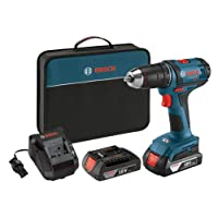 Bosch DDB181-02 18-Volt Lithium-Ion 1/2-Inch Compact Tough Drill/Driver Kit with 2 Batteries, Charger and Contractor Bag