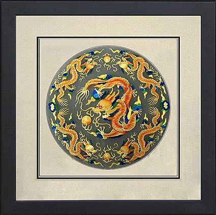 05fa0d2ee 100% Handmade Embroidery FrameKing Silk Art 100% Handmade Embroidery Framed  Five Golden Dragon Oriental