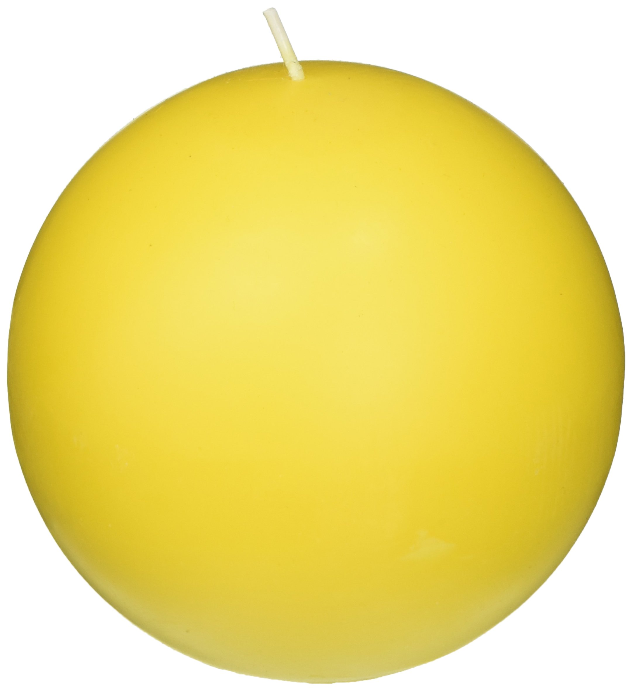 Zest Candle 2-Piece Ball Candles, 4-Inch, Yellow