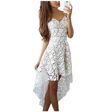 RENXINGLIN Women Sexy Dress Boho Casual Mini Bodycon Dresses White Lace Beach Maxi Dress Vestidos