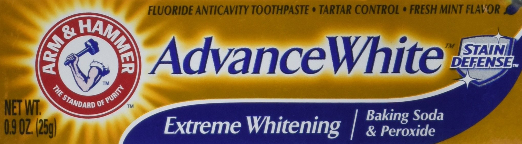 Arm & Hammer Advance White Extreme Whitening Toothpaste .9 Oz Travel Size (Pack of 8)