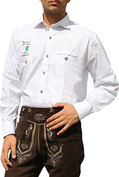Traje típico de Baviera Camisa para Trachten lederhosen ...