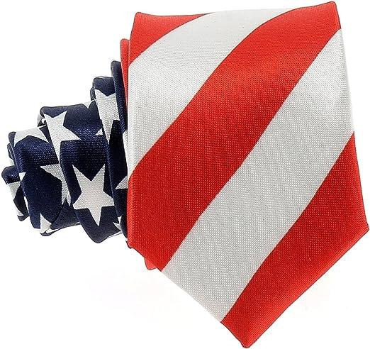 Corbata Estrecha Bandera Americana USA: Amazon.es: Ropa y accesorios