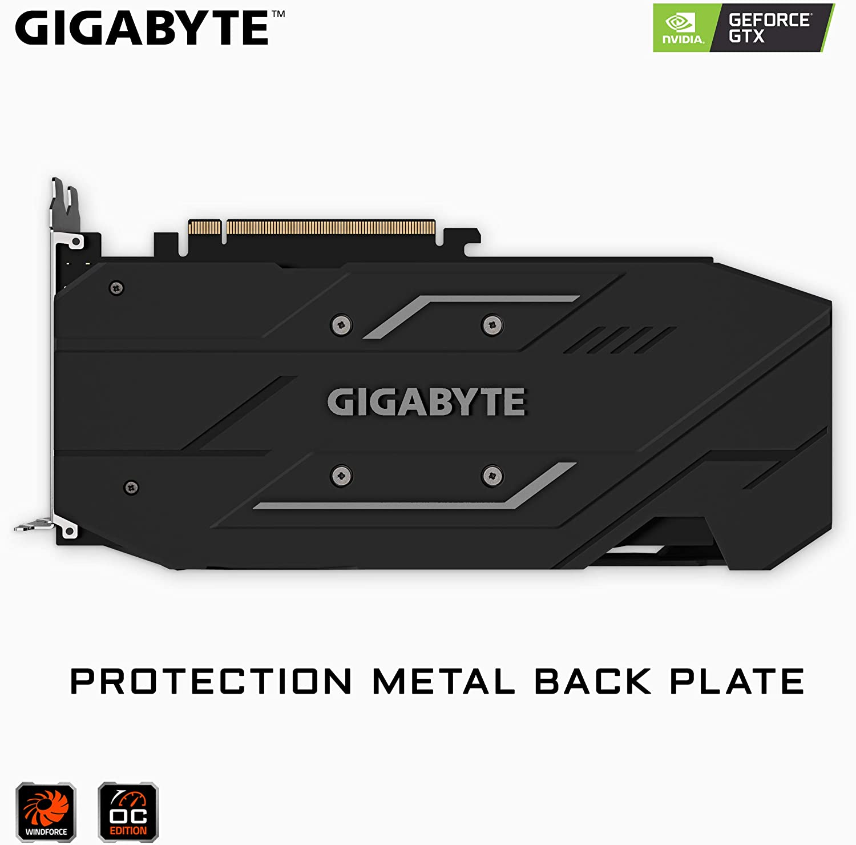 Gv-N166TOC-6GD GIGABYTE GeForce GTX 1660 Ti OC 6G 192-bit GDDR6 DisplayPort 1.4 HDMI 2.0B with Windforce 2X Cooling System Graphic Cards