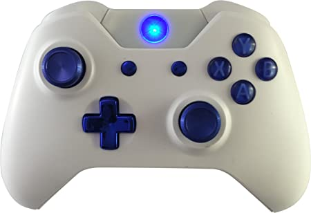 Weiß Blau Chrom Xbox One GM Master MOD Modding Controller für Call of Duty, Rapid Fire Mod für Black Ops 3 Quickscope,