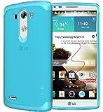 TUDIA Ultra Slim LITE TPU Bumper Protective Case for LG G3 (2014) (Teal)