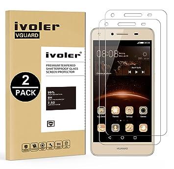iVoler Huawei Y5 II / Y5 2 Screen Protector, Tempered: Amazon co uk