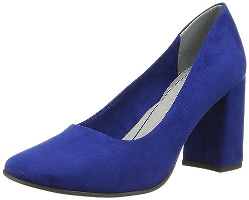 22429, Zapatos de Tacón para Mujer, Azul (Royal 838), 36 EU Marco Tozzi