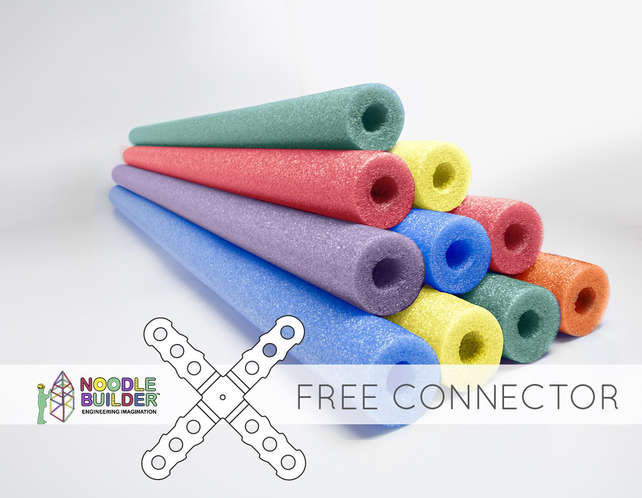 Oodles of Noodles Deluxe Foam Pool Swim Noodles - 10 Pack 52 Inch Wholesale Pricing Bulk Pack and Free Connector by Oodles of Noodles