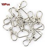 10Pcs 360° Swivel Trigger Snap Hooks--Silver