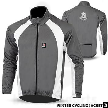 Biz Inn Sports Ciclismo Chaquetas Windstopper Invierno térmica Resistente al Viento Chaqueta de Manga Larga Todo