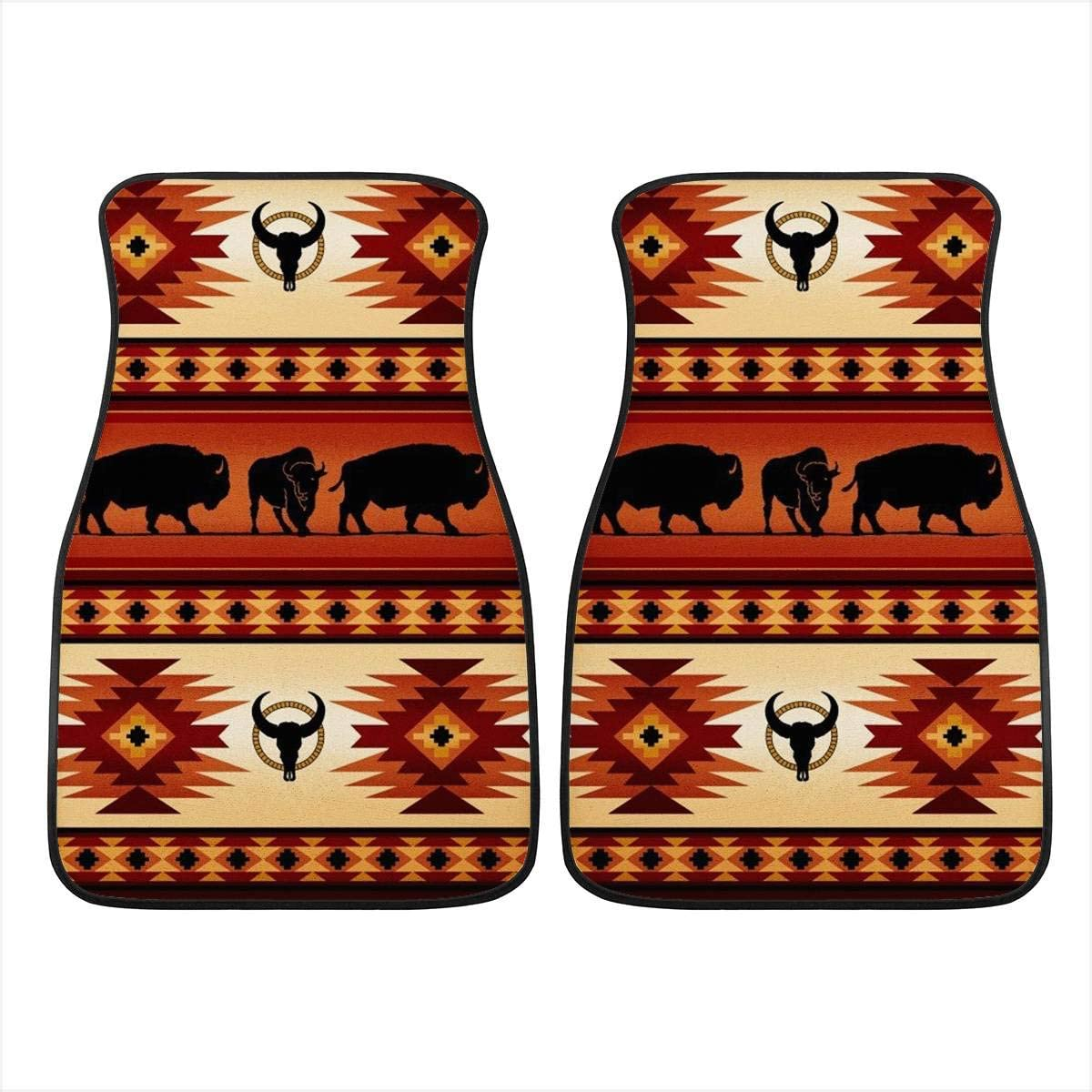 INSTANTARTS Mens Women Ethnic Horse Print Vintage Cars Decor Universal Fit Car Floor Mats for SUV Sedan Trucks
