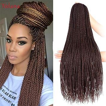 24 Inch 30 Strands 95 Gram Pack Senegalese Twist Hair Crochet Braids Hairstyles Crochet Twist