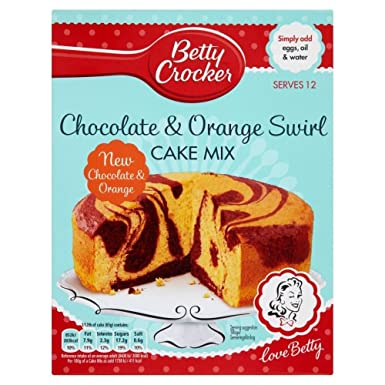 Betty Crocker Cake Mix Chocolate & Orange Swirl (435g): Amazon co uk