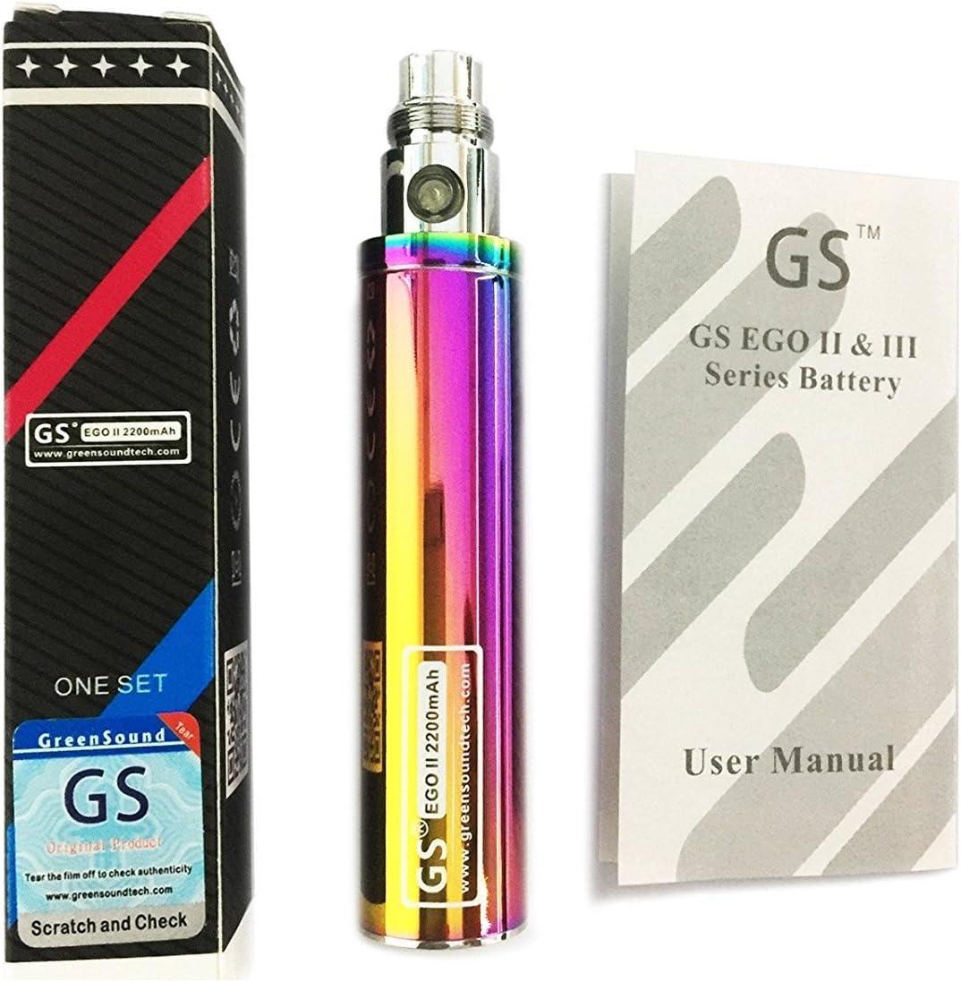 Batería GS Ego II de gran capacidad para cigarrillo electrónico, 2200mah, edición 2015 Ego 510. E- shisha, E-cigarrillo arcoíris.