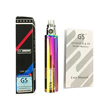 Batería GS Ego II de gran capacidad para cigarrillo electrónico, 2200 mah, edición 2015 Ego 510. E- shisha, E-cigarrillo arcoíris.