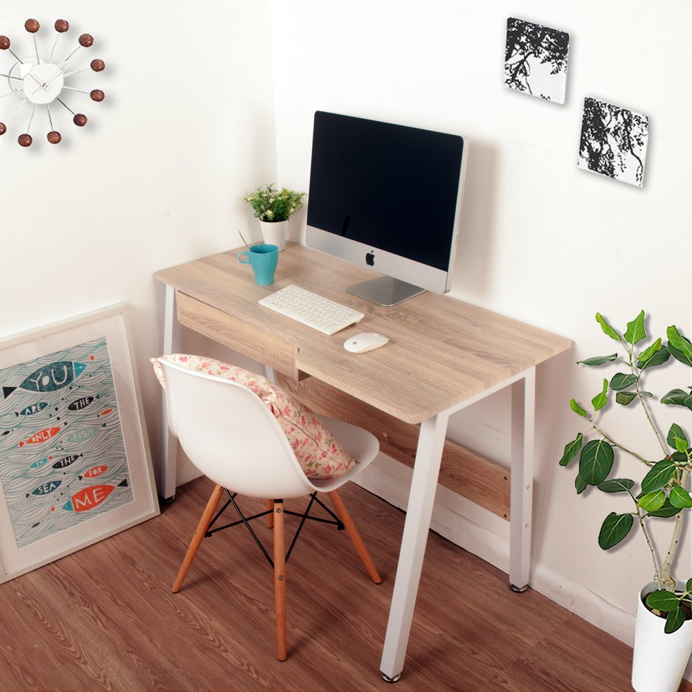 office computer desks for home. Life Carver New Home Office Desk Study Laptop Computer PC Writing Table WorkStation Wooden \u0026 Metal: Amazon.co.uk: Kitchen Desks For H