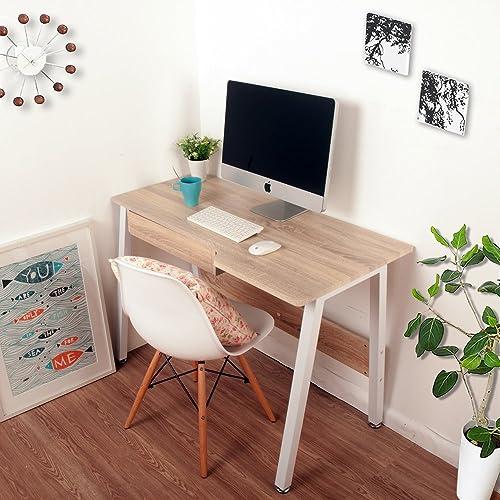 LIFE CARVER Noah Office Desk Study Laptop Desk Computer PC Writing Table WorkStation Wooden & Metal