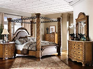 South Coast Poster Canopy Bedroom Set