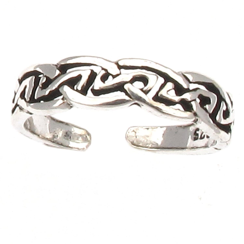 Zehenring Zehring 925 Sterling Silber keltischer Knoten Damen einstellbar