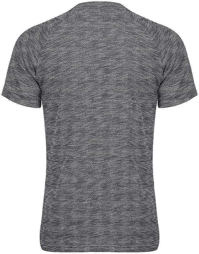 Men Summer T Shirt,Fineser Mens Short Sleeve V-Neck Solid Zipper Tee Shirt Polyester Sport Loose Casual Shirt Size S-2XL