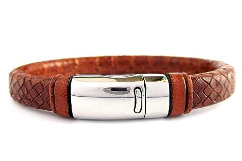 Pulsera cuero marrón, pulsera de cuero regaliz grabado, pulsera de cuero, accesorios de hombre, accesorios de cuero, regalos para hombre: Amazon.es: Handmade