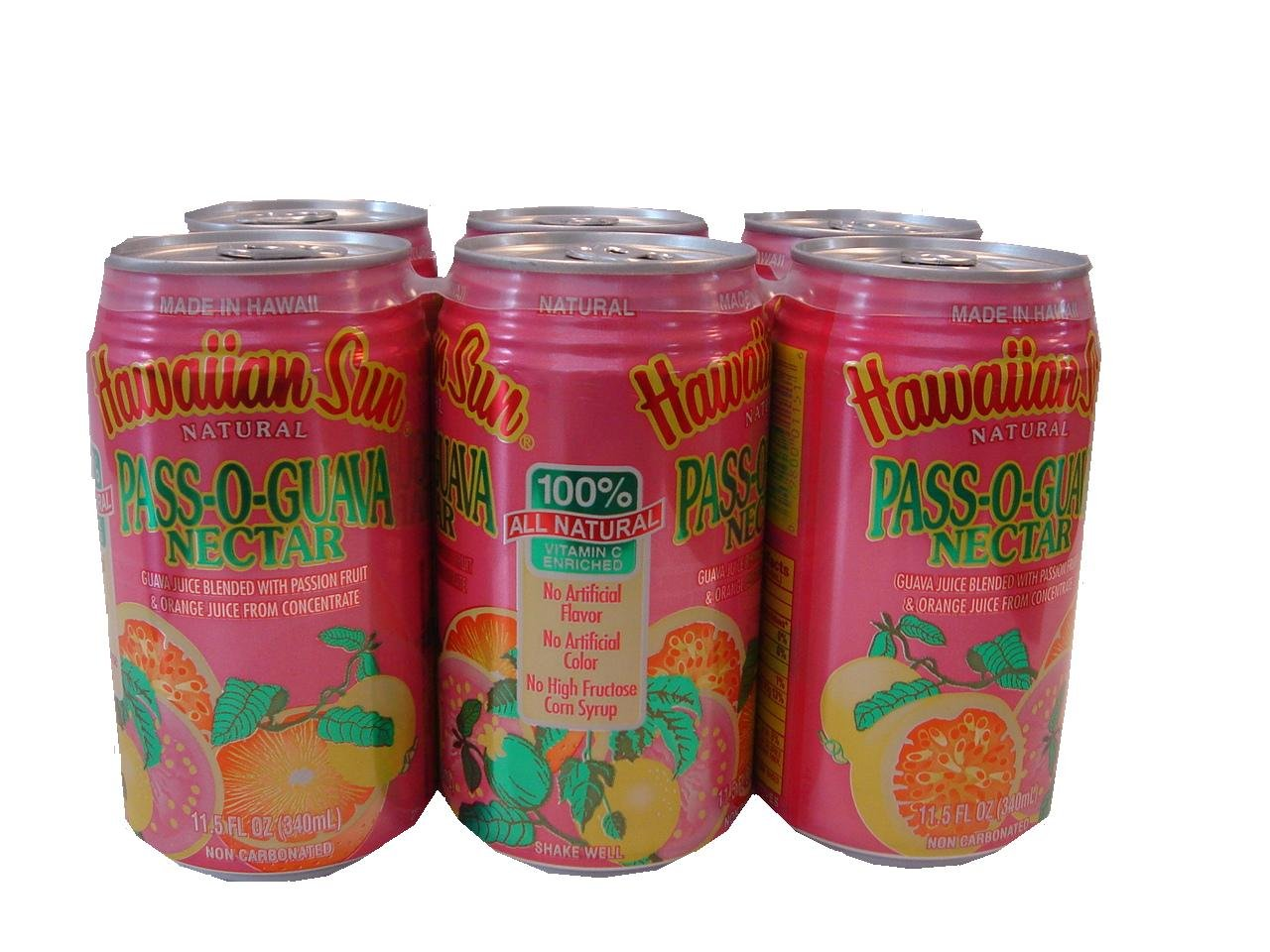 Passion Fruit & Guava Pass-O-Guava Non Carbonated Drink - 11.5 oz (Pack of 12)