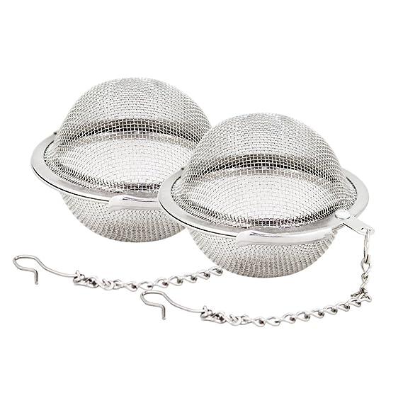 Amazon.com: Bola de té de malla de acero inoxidable de 2,1 ...
