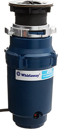 Whirlaway 291 1 2 Horsepower Garbage Disposer with Power Cord, Blue