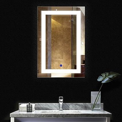 BATH KNOT LED Bathroom Makeup Vanity Mirror With Lights Wall Mounted  Backlit Mirror, Vanity