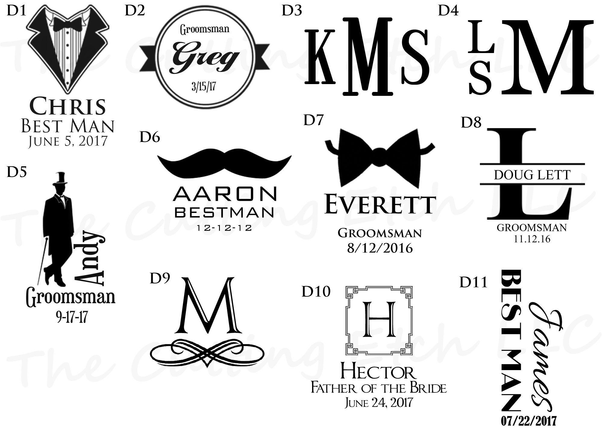 Personalized Wedding Glasses (Set of 6)
