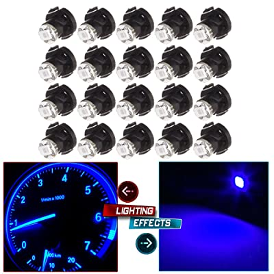 cciyu 20 Pack Blue T4/T4.2 Neo Wedge LED Climate Base Light Lamp Bulbs: Automotive