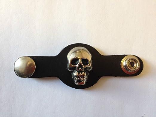 OSX Vest  Waistcoat Extenders Biker Punk Leather Skull Steel Studs AC8180K